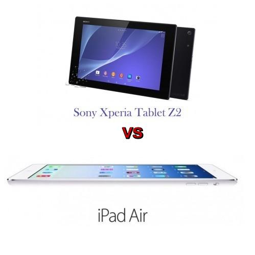 sony xperia z2 tablet vs ipad air