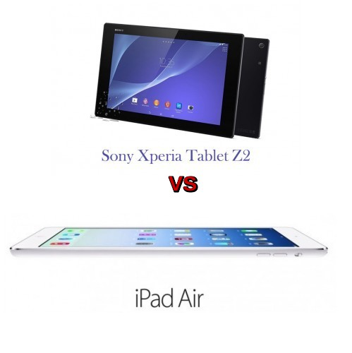 sony xperia z2 tablet vs ipad air